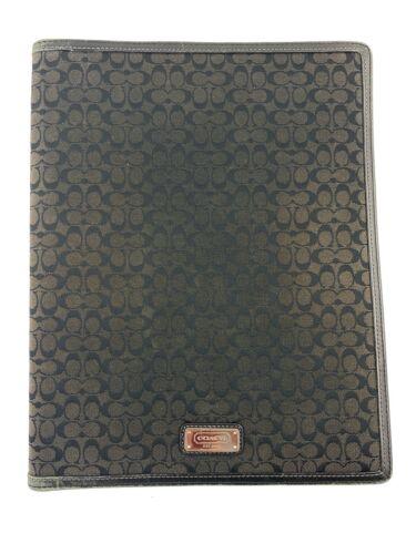 "Coach Signature Portfolio Notepad Folder Black 12.5"" x 10"" F70299"