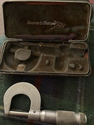 Brown And Sharpe Vintage Anvil 0-1 Micrometer - Estate Sale