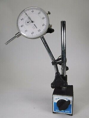 Mitutoyo No. 3416 Dial Gauge Gage Dial Indicator With Magnetic Base K9-3
