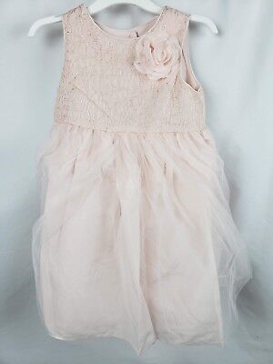 Tevolio Girl's Lace Empire Waist Flower Girl Dress Pale Peach Size 3T New ()