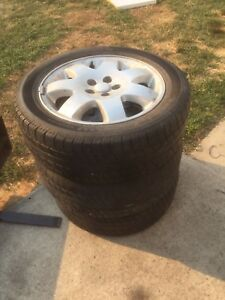 "3 Rims and Tires 205/55R16 5x4"" bolt"