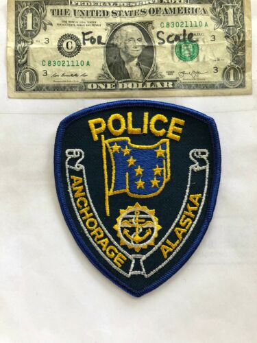 Anchorage Alaska Police Patch Un-Sewn in great shape