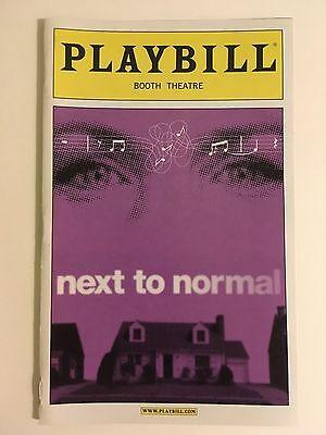 Next To Normal Playbill - November 2010 - Broadway Playbill - Marin Mazzie +
