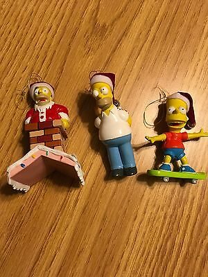 The Simpsons Holiday Ornaments Set Bart Homer