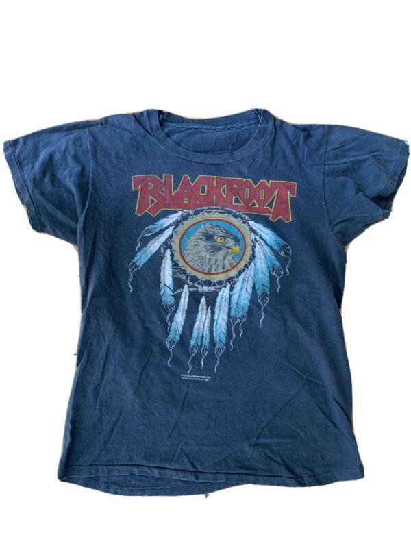 Blackfoot Vintage Rare 81' Tour Shirt Southern Rock Native American Band