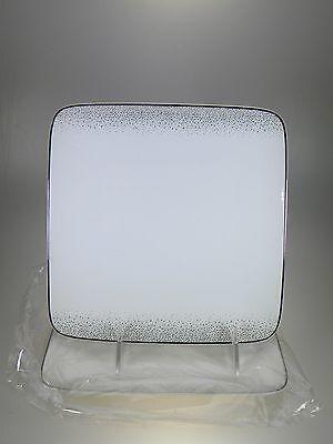 Platinum Small Square Plate - Noritake Alana Platinum Small Square Plates 7.5