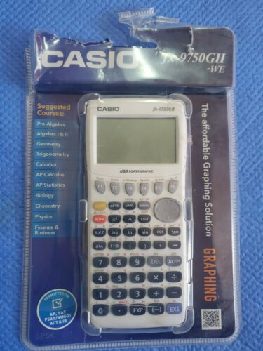 Casio FX-9750GII Graphing Calculator - White Sealed In Packa