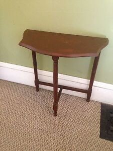 Antique Half Moon Table, $40 Firm