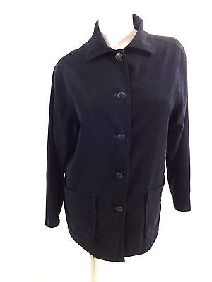 Express Damen Schwarz Wildleder Polyester Jacke Größe 5/6 Süß