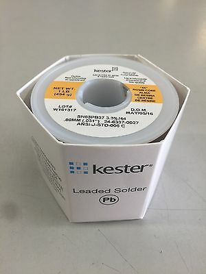 Kester 24 6337 0027 Wire Solder  031 Ra Rosin Sn63 Pb37 66 Flux 44 Core 1 Lb New