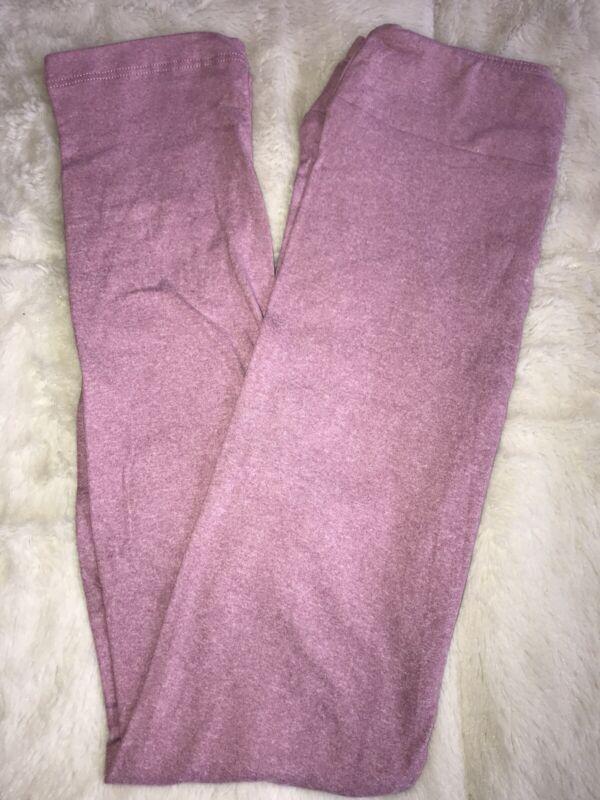 LuLaRoe Kids Leggings L/XL Large XLarge NWT Solid Heathered Pink