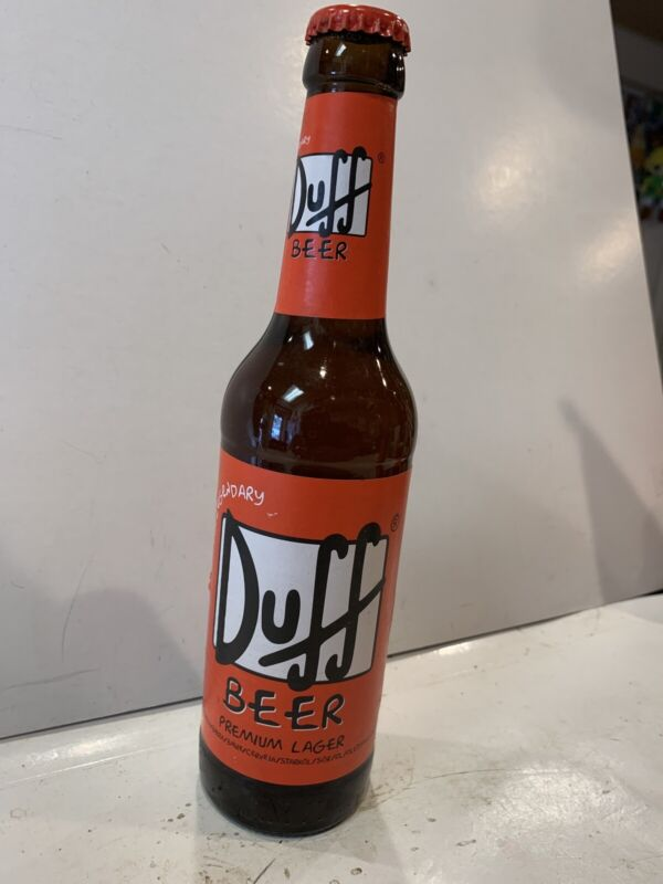 The Simpsons The Legendary Duff Beer Very RARE COLLECTABLE Our Of Production