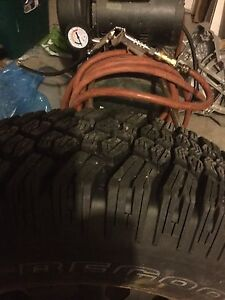 16 inch M&S tires on rims - great winter tires