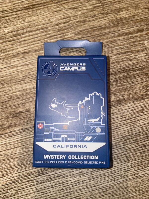 Disney AVENGERS CAMPUS MYSTERY PIN BOX Marvel WEB Park Exclusive Pins SEALED NEW