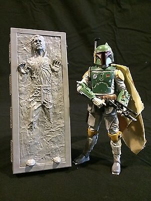 New Cast  Custom Resin Star Wars Sdcc Han Solo Carbonite 6  Black Series Figure