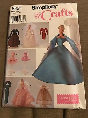 Awesome Costumes For Kids ( Simplicity Pattern 8481 ~ Doll Clothes for 11 1/2