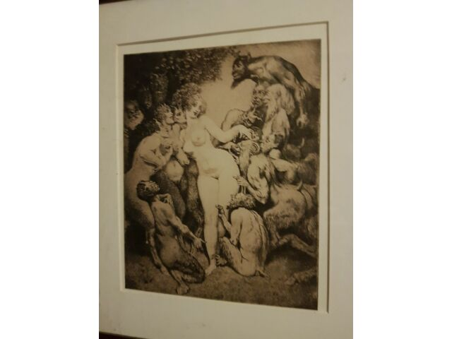 Norman Lindsay professionally framed and mounted print in very good condition.