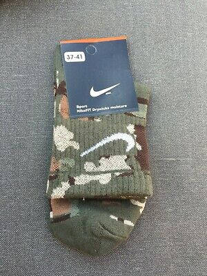 Nike GREEN Camouflage socks,camo socks for men,woman,kids, Military, Army