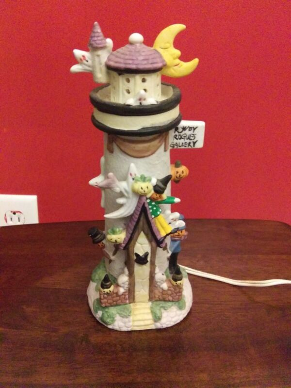 Rowdy Rogues Gallery Haunted Lighthouse Halloween Town Village Decoration