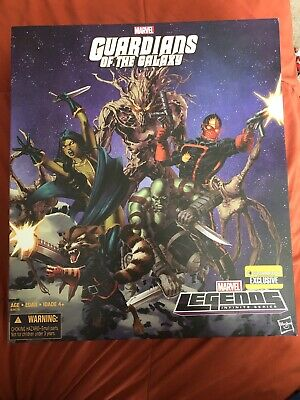 Marvel Legends Guardians of Galaxy Box Set EE Exclusive StarLord Groot Drax