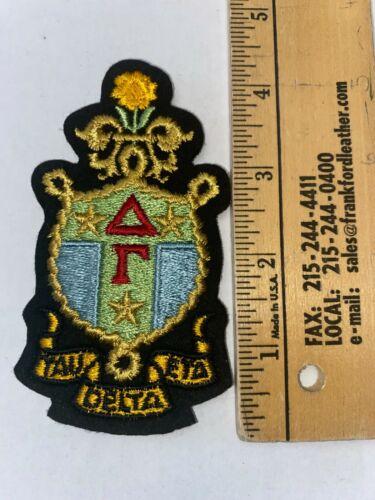 "Delta Gamma 4.5"" Embroidered Shield Crest Patch VINTAGE RARE FREE SHIP"