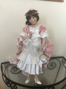 Century Collection Porcelain Doll w/Stand