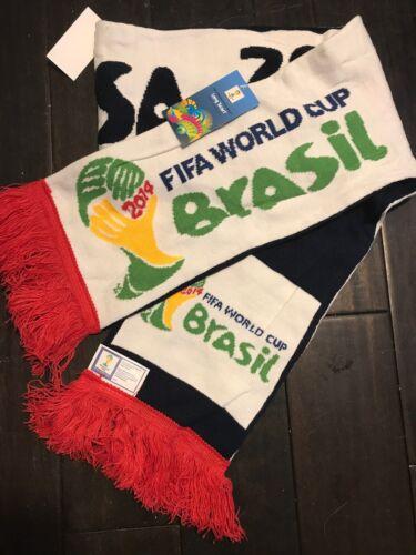 2014 World Cup Scarf Brazil/Brasil USA FIFA MLS National Tea