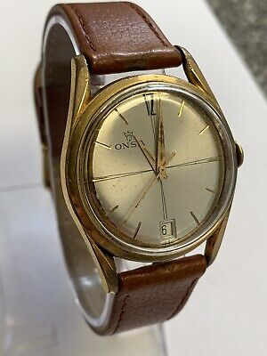 Vintage 1960's ONSA 25 Jewels Automatic Swiss Made Mens Wrist Watch Keeping Time