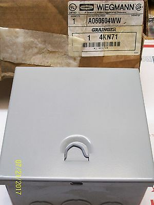 New Hubbell Wiegmann Electrical Enclosure Box A060604ww