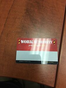 Work Authority Gift Card