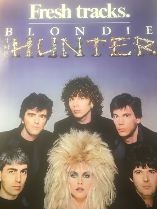 Blondie The Hunter Poster Rare Promo 1982