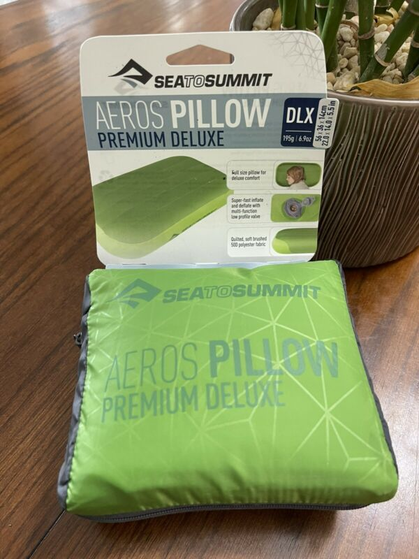 Sea To Summit DLX Aeros Premium Deluxe Camping Pillow - Lime 56x36x14