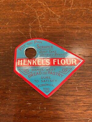 Henkel's Flour Bread Pot Pan Scraper Kitchen Metal Sign Vintage??