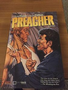 Hard cover preacher graphic novel lootcrate exclusive