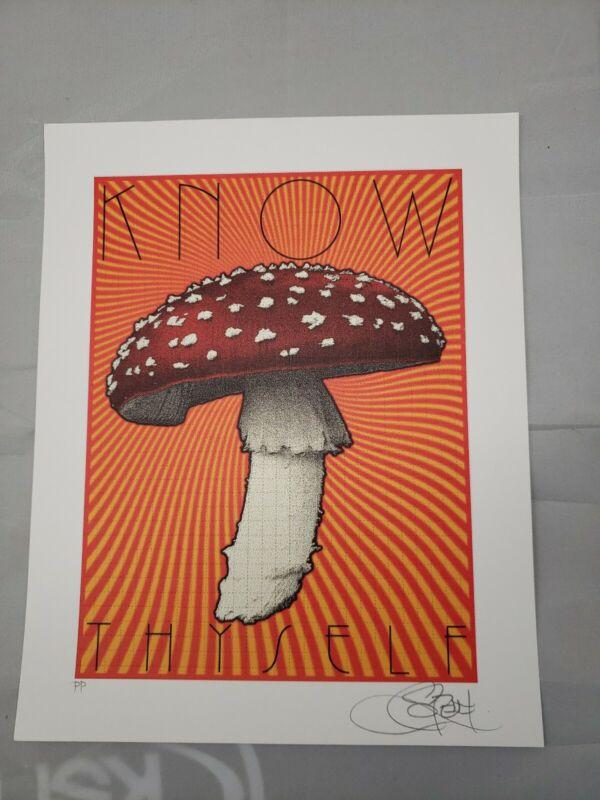 "Chuck Sperry ""Know Thyself"" blotter art print signed printers proof p/p"