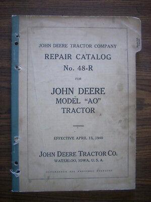 Jd John Deere Model Aos Orchard Parts Manual