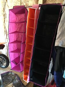 Hangable closet organizers and under the bed storage