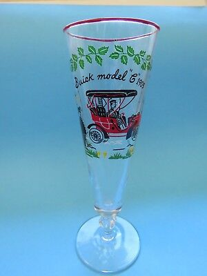 Very Cool Collectible BEER Stem Drink Glass ~ 1905 Buick Model G Vintage (Cooling Glass Models)