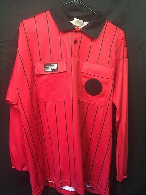 0bc1642acdb USSF Red SOCCER REFEREE JERSEY OFFICIAL SPORTS PRO Large
