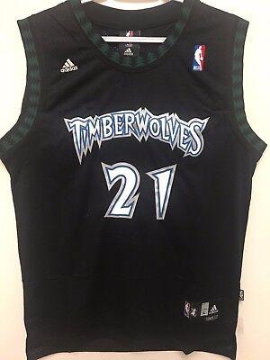 Kevin Garnett 21 Swingman Basketball Jersey Minnesota Timberwolves Black Men Nwt