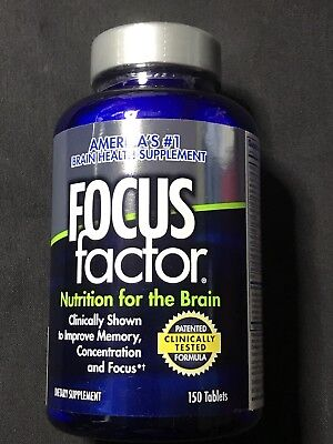 Focus Factor Nutrition for The Brain - Memory, Concentration & Focus (150 Count)