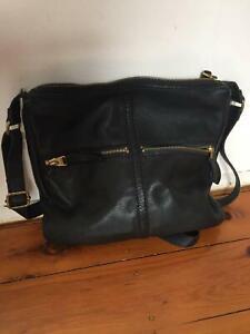 Fossil Crossbody Bag - Black, Genuine Leather