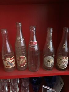 Antique ACL soda pop bottles