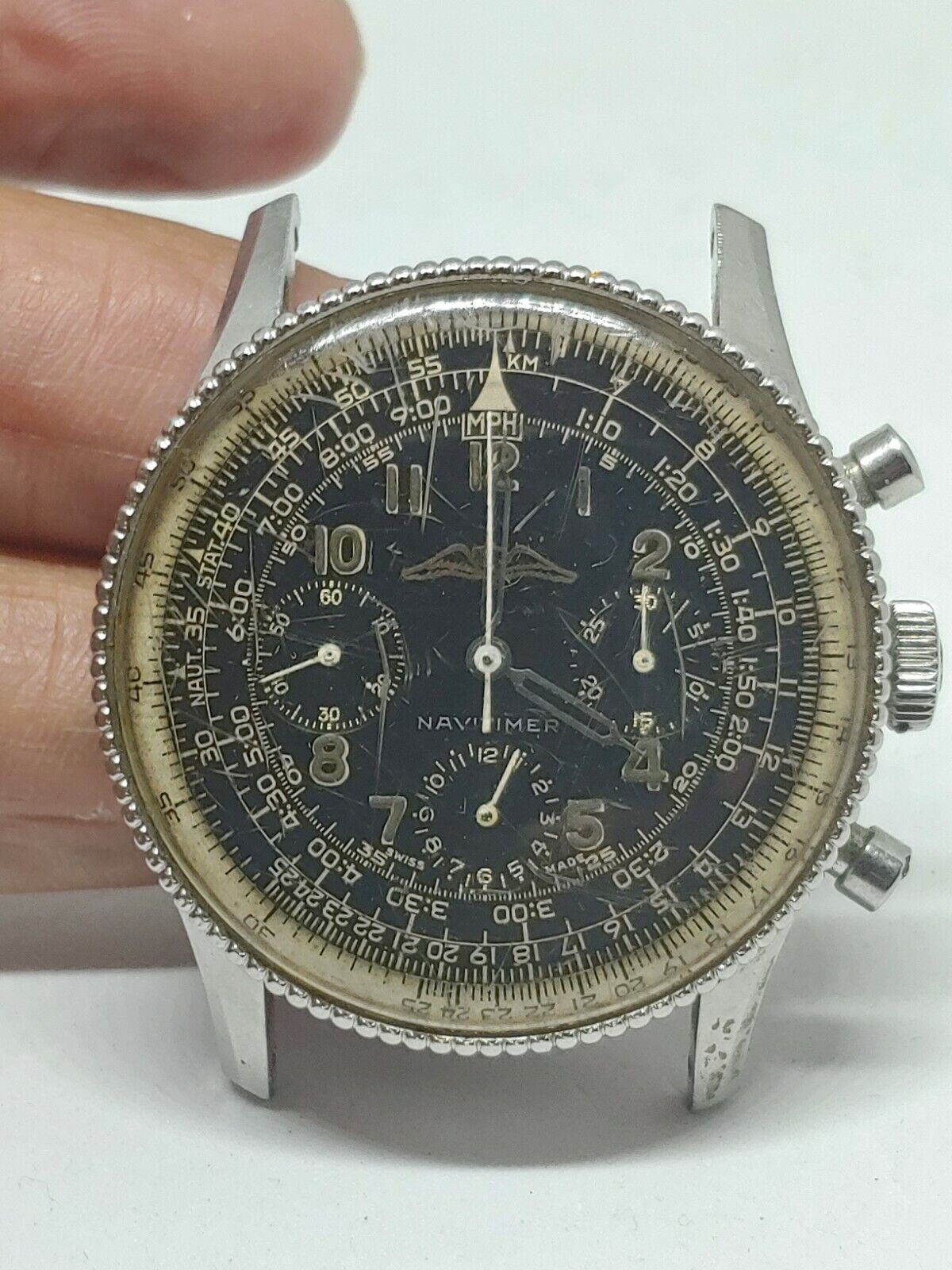 Breitling Navitimer AOPA Wristwatch Ref 806   Cal.  Venus 178 AS IS - watch picture 1