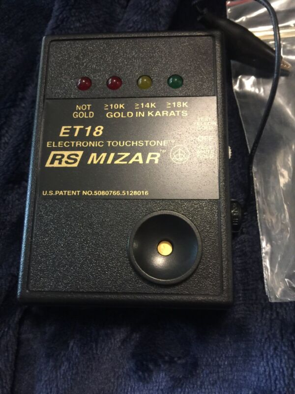 Gold Tester - RS Mizar Electronic Gold Tester ET18 - With accessories and fluids