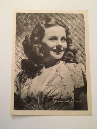 S11) Vintage 1946 Jeanne Crain Actress 7x10 Publicity Biography Photograph