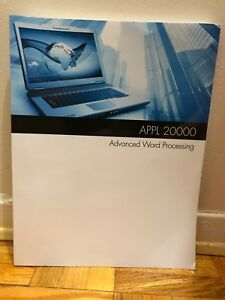Advanced Word Processing Book