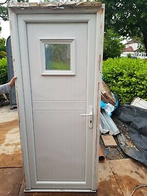 Used upvc White Back Door And Frame. 2040mm x 850mm