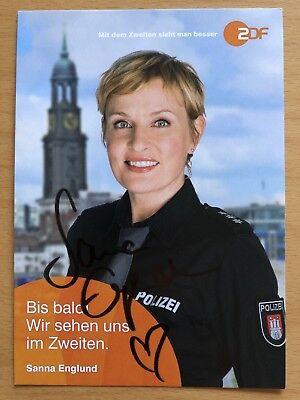 Sanna Englund AK ZDF Notruf Hafenkante Autogrammkarte original signiert
