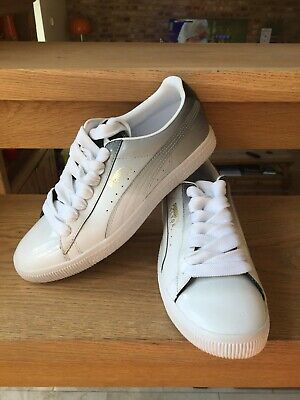 PUMA CLYDE PF - WHITE AND BLACK - UK 8 - EXCELLENT CON